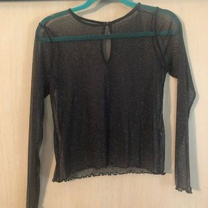 Sparkly sheer black top from Hollister